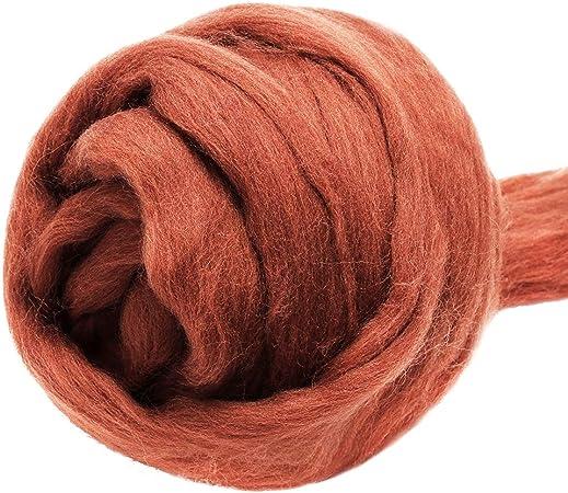 Wool Felting Supplies Jupean 3.53oz Wool Roving Yarn Fiber Roving Wool Top Spinning Wool Roving for Needle Felting Wet Felting DIY Hand Spinning Wool Felt Crafts Chunky Yarn 100/% Pure Wool