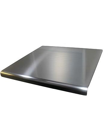 OneClod - Tabla De Cortar Encimera Cocina En Acero Inoxidable Satinado Variante Con Esquina Curva,