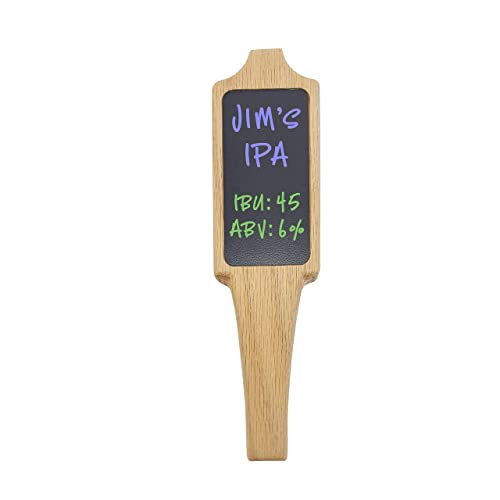 """Beer Tap Handle with Black Chalkboard dry-erase 2/""""x4/"""" for Kegerator or any Tap"""
