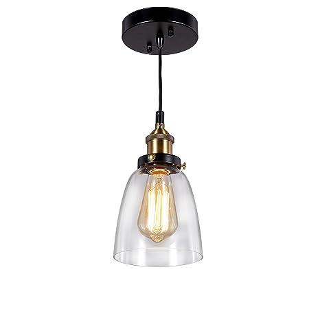 cottage style lighting. Central Park Industrial Vintage Glass Pendant Lamp, Edison Lighting, Cottage  Style Light Fixture, Cottage Style Lighting