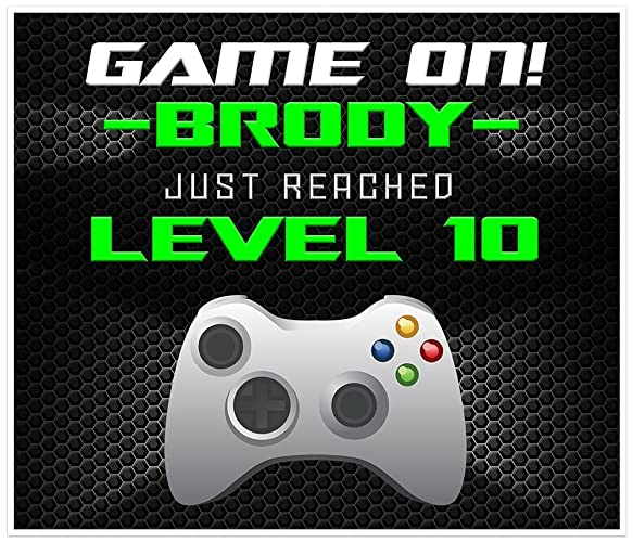 Amazon Com Game On Video Gamer Birthday Banner Neon Green