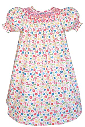 c79c55df8 Amazon.com  Carouselwear Hand Smocked Girls Birthday Bishop Dress ...