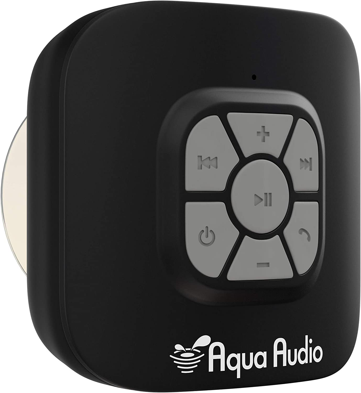 AquaAudio QZ-2Q0H-R3GO Cube Waterproof Bluetooth Wireless Speaker with Suction Cup and Built-in Mic for All Bluetooth Media Devices (Black)
