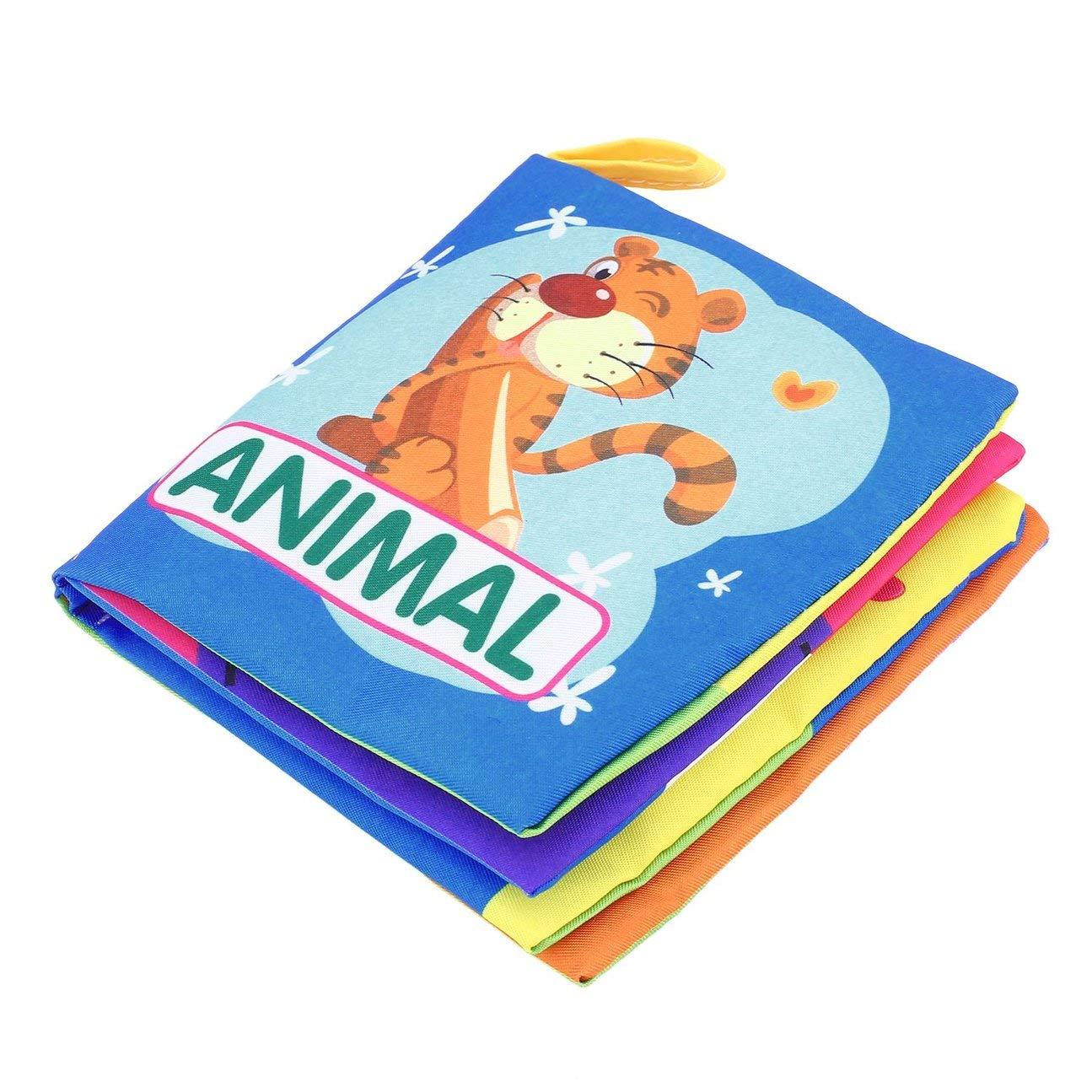 HIPENGYANBAIHU Beb/és reci/én Nacidos Libro de Tela port/átil Educativo temprano Libros Suaves Coloridos Desarrollan Inteligencia Juguetes multifuncionales Color: Colorido