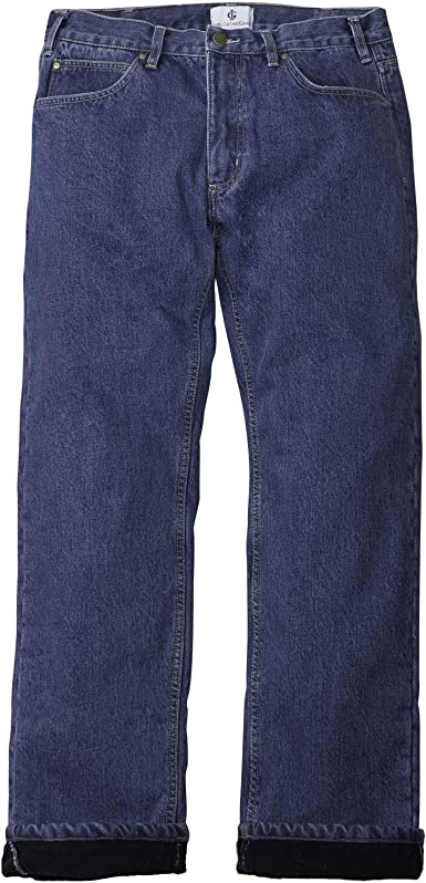 Insulated Gear Men S Relaxed Fit Straight Leg Fleece Lined Jeans At Amazon Men S Clothing Store
