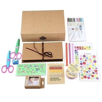 Amazon Com Gotideal Diy Scrapbook Album Craft Paper Wedding And