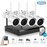 Wireless Security Camera System, Etration 4 Channel 1080P Full HD Video Security System, 4pcs