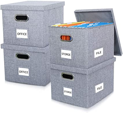 Cajas de almacenamiento de archivos plegables con tapas de gran ...