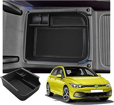 Ruiya Golf 8 Mk8 Armlehne Aufbewahrungsbox Mittelkonsole Organizer Mit Antirutschmatten Angepasst Autozubeh 2020 Update Schwarz 01 Auto