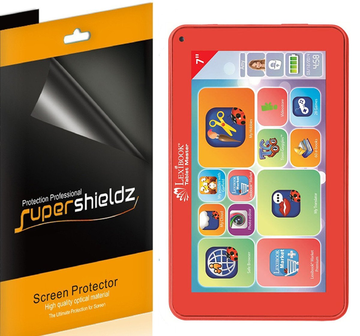 [ 3 - Pack ] Supershieldz −高定義クリアスクリーンプロテクターfor Lexibookタブレットマスター3 7
