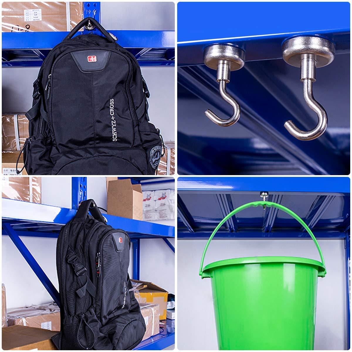 Makone 40 Pound Heavy Duty Neodymium Hanging Mighty Magnetic Hooks D25 10 Packs Magnetic Hooks