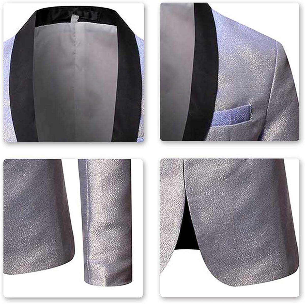 Mens Magic Color Tuxedo Suit Jacket Luxury Slim Fit Dress Blazer Prom Sport Coat