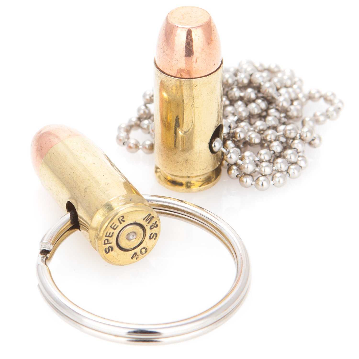 Lucky Shot Genuine Once-Fired 40 Caliber Bullet Llavero y ...