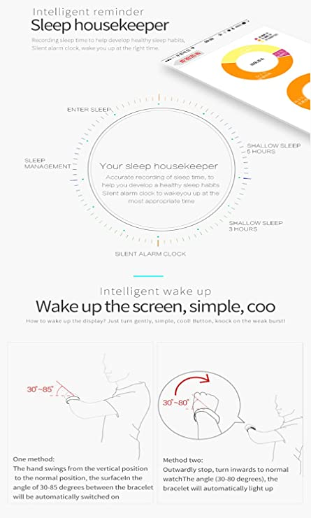 aigu ozer® B5 Bluetooth 4.0 podómetro martwatch Relojes pulsera de ...