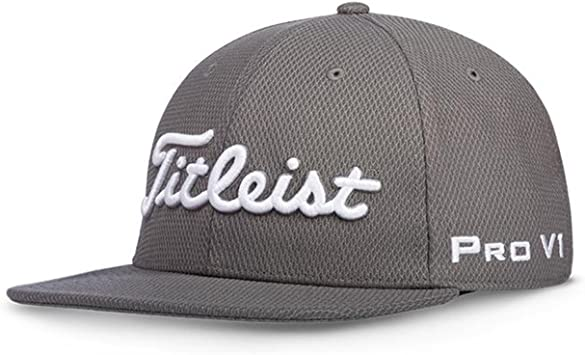 Titleist Gorra de Golf (Tour Flat Bill) (Tour Flat Bill, Charcoal ...