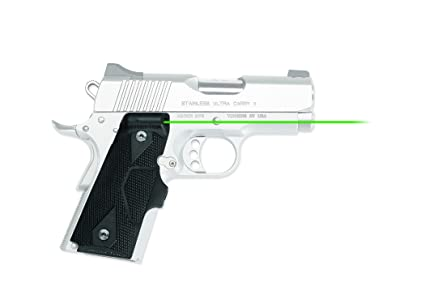 Crimson Trace LG-404G Lasergrips Green Laser Sight Grips for 1911 Compact  Pistols