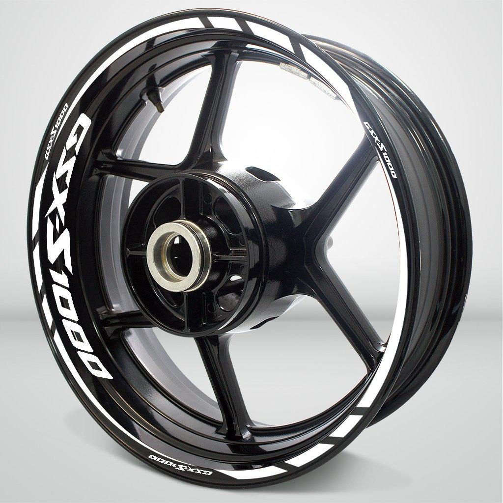 Gloss White Motorcycle Rim Wheel Decal Accessory Sticker for Suzuki GSXS 1000