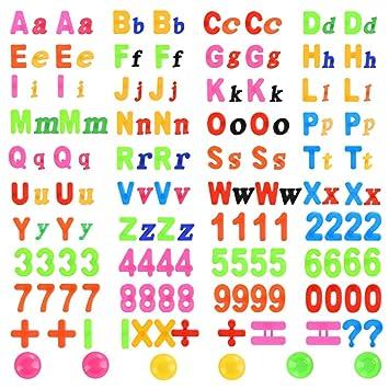 YOTINO 162 Piezas Letras y Números Magnéticos Alfabeto con Imanes ...