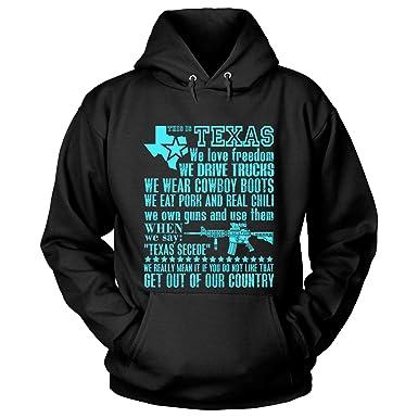 715345065d21 Amazon.com  This is Texas Hoodies