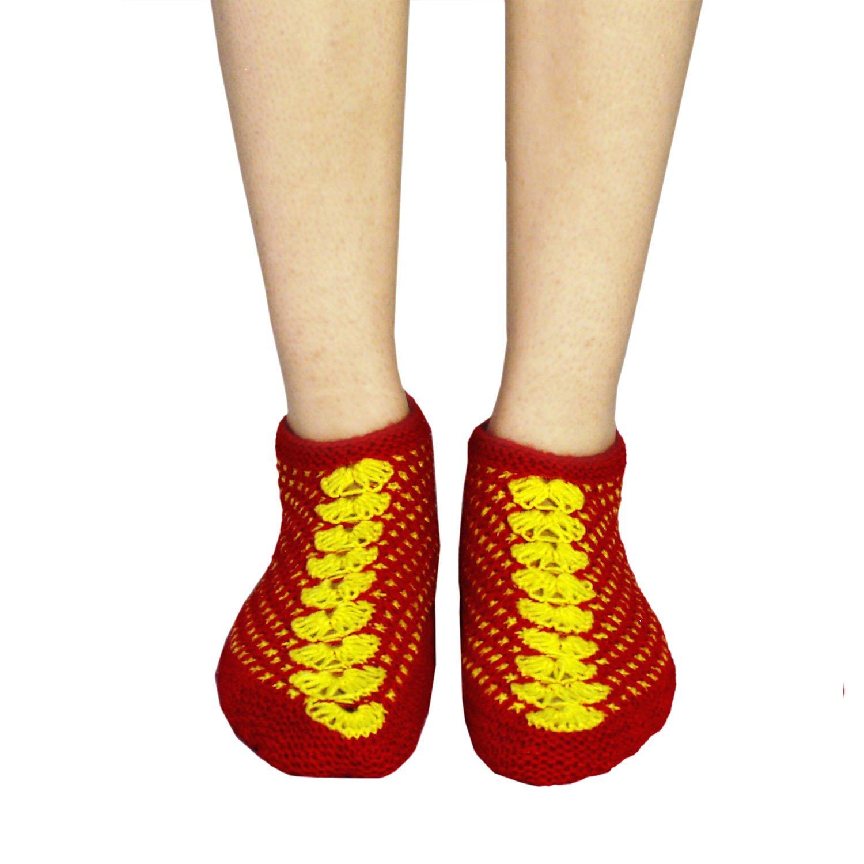 9e74ee30d1a8a Falcon18 handknitted Socks Shoes   Woolen Socks for Women Warm feet ...