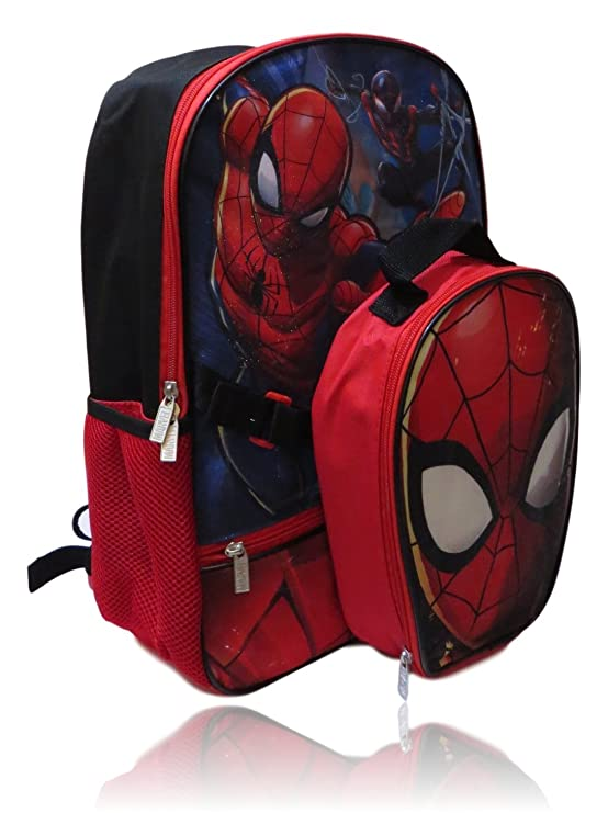 Amazon.com | Marvel Spiderman Backpack W/Detachable Shaped Insulated Lunch Box | Kids Backpacks
