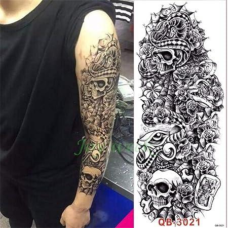 tzxdbh 3Pcs-Etiqueta engomada del Tatuaje Impermeable Taro Rose ...