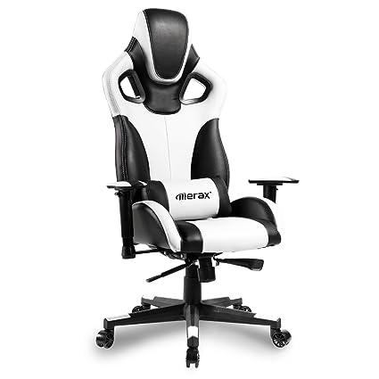 Merax ordenador Gaming Chair Silla de estilo de diseño ergonómico de espalda alta silla de oficina