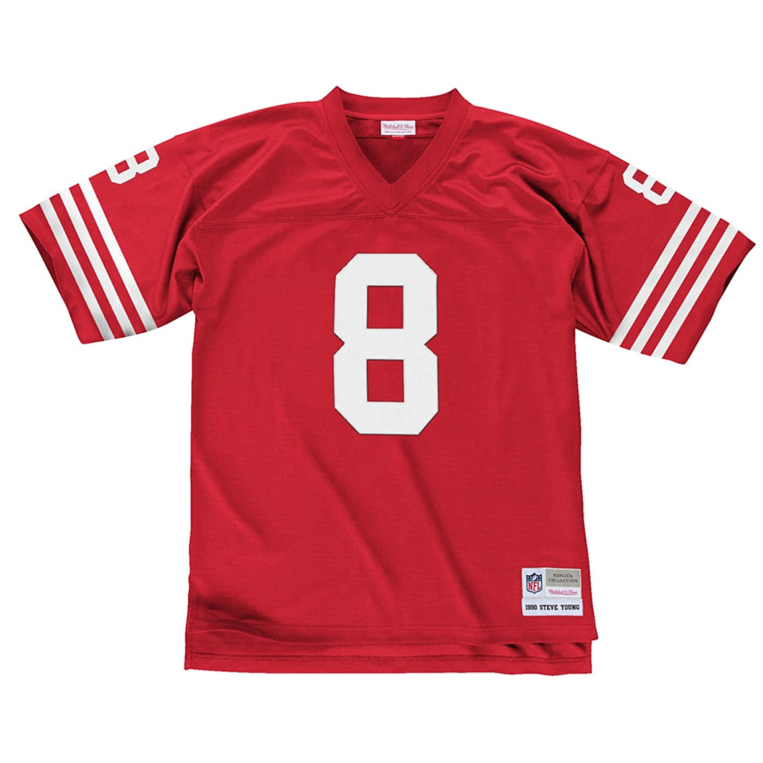 d613484be Amazon.com   Mitchell   Ness Steve Young San Francisco 49ers Throwback  Premier Red Jersey   Football Jerseys   Sports   Outdoors