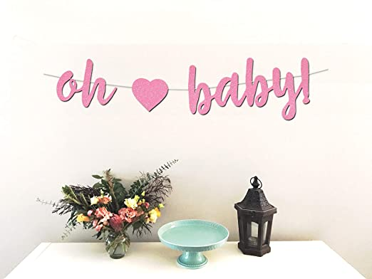 Amazoncom Oh Baby Banner Perfect Decoration For Girl Baby
