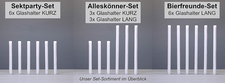 6er-Set f/ür Kantine Gastronomie f/ür viele Sp/ülmaschinen Geschirrsp/üler Glashalter//Gl/äserhalter//Aufsteckhalter//Halterung