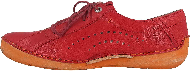 Josef Seibel Fergey 73 Halbschuhe in Übergrößen Rot 59673 192 401 große Damenschuhe - Josef Seibel Schuhe