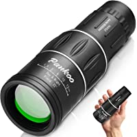 $34 » Pankoo 16X52 Monocular Telescope, High Power Prism Compact Monoculars for Adults…