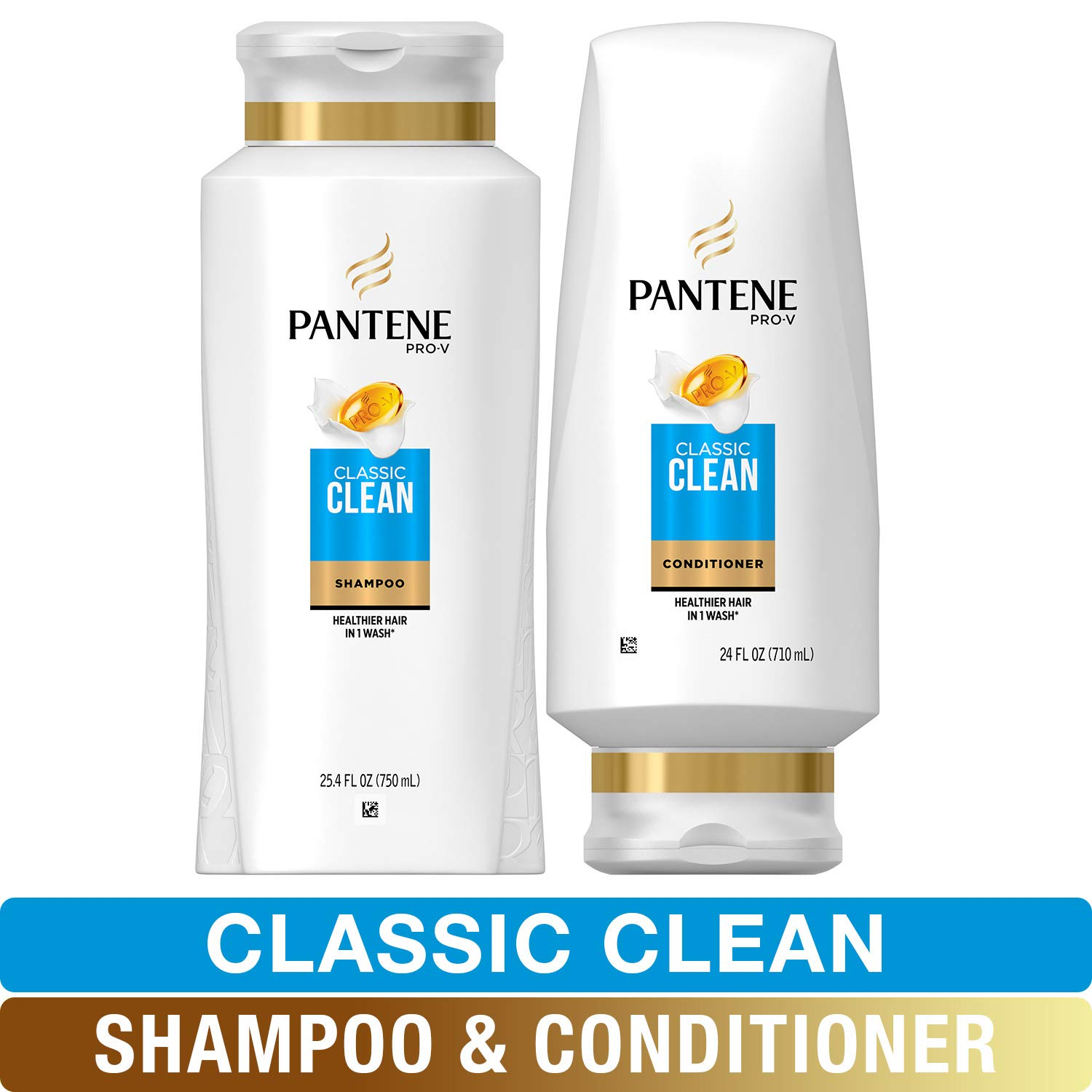 Pantene, Shampoo and Sulfate Free Conditioner Kit, Pro-V Classic Clean, 49.4 fl oz