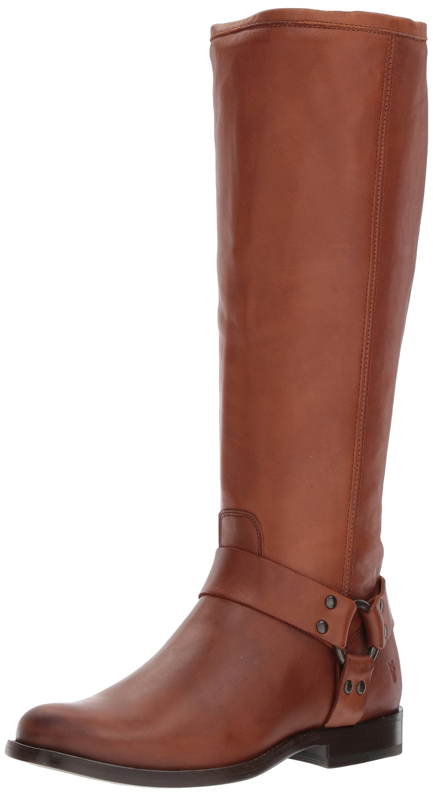 FRYE Women's Phillip Tall Harness Boot, Cognac, 9.5 M US