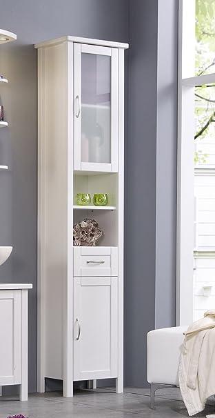 SAM® Stilvoller Hochschrank Valencia in weiß, Badschrank aus ...