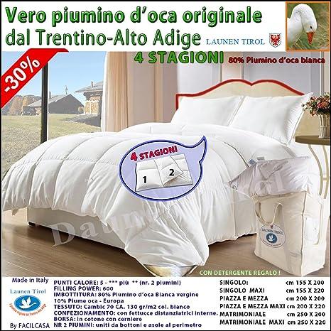 Differenza Tra Piumino E Piumone.Piumone Piumino Piuma D Oca 4 Stagioni 80 20 Launen Tirol Alto Adige