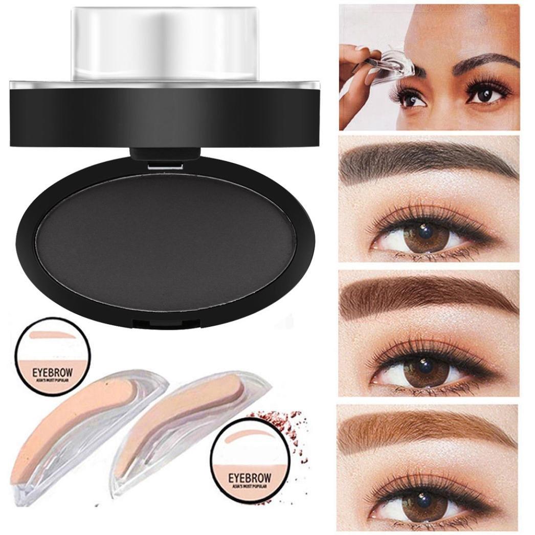 Xshuai - Poudre naturelle pour sourcils, résistante à l'eau - Forme de sourcils délicate pour les débutants b