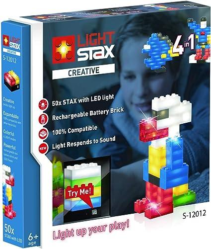 Light Stax LED Light-Up Building Blocks 102-Piece Mega Set