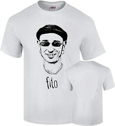 Camiseta Fito Impresion Premium Negra y Plateada Rock Algodon Calidad 190grs: Amazon.es: Ropa y accesorios