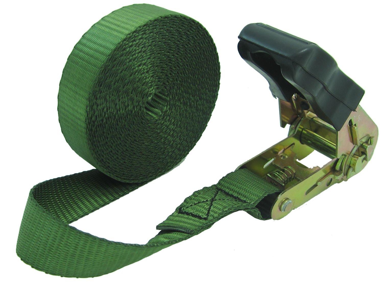 WINGONEER Endless Loop Ratchet Tie-Down Standard Duty Ratchet Endless No Hooks/Lashing, 1,700 lbs.196inch - Army green by WINGONEER®