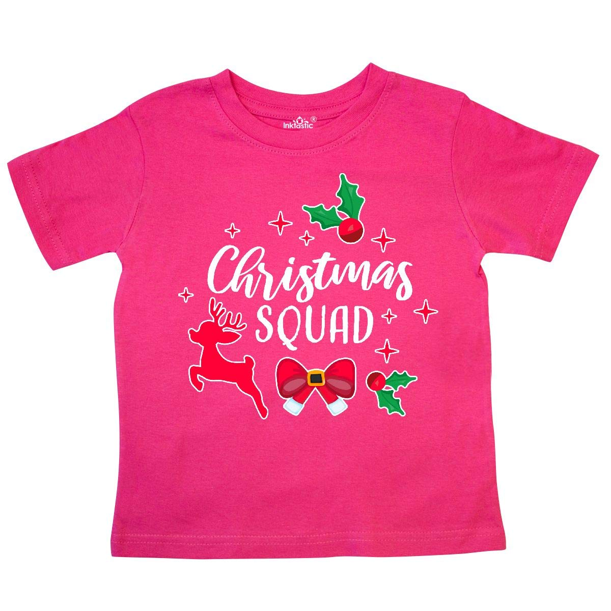 inktastic Christmas Squad with Holly Sparkle and Reindeer Toddler T-Shirt