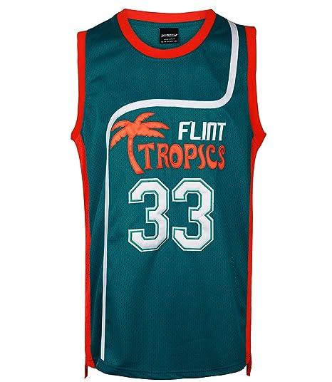 3be4818dc41 JOLI SPORT Men s 33 Flint Tropics Jackie Moon Semi Pro Basketball Jersey S-XXXL  Green
