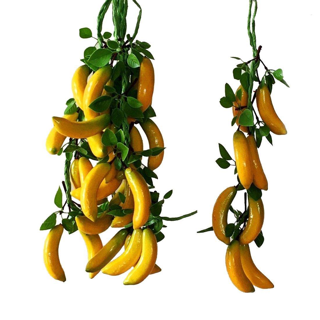 Calcifer 19.69''Artificial Fruits Vegetable String For Restaurant Hotel Home Garden Decoration Display (Banana String: 8 bulbs)