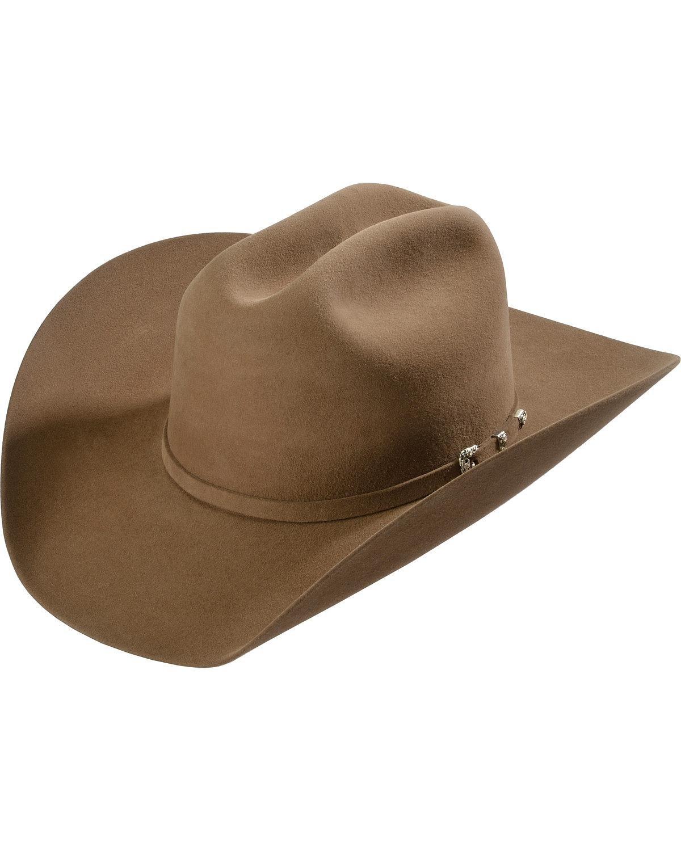 Justin Men's 8X Fur Felt Mustang Cowboy Hat Fawn 7