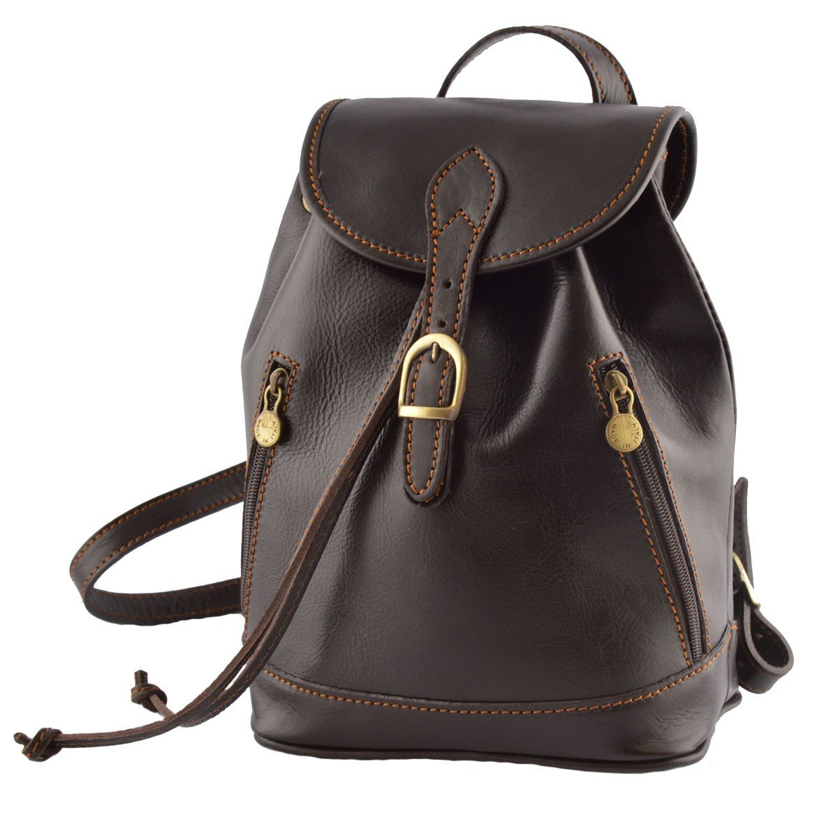 Leather Backpack Color Black