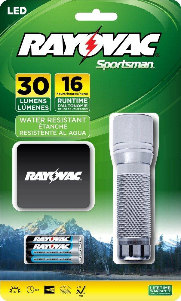 Rayovac Sportsman 30 Lumen 3AAA LED Flashlight with Batteries (SPHW3AAA-BXA)