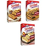 Slimfast Meal Replacement Snack Bars Ultra Variety Pack One Box Each Of Yoghurt Fruit Chocolate Crunch Nutty Salted Caramel 12 bars 4 Each (FREE AETN RECIPE CARD )