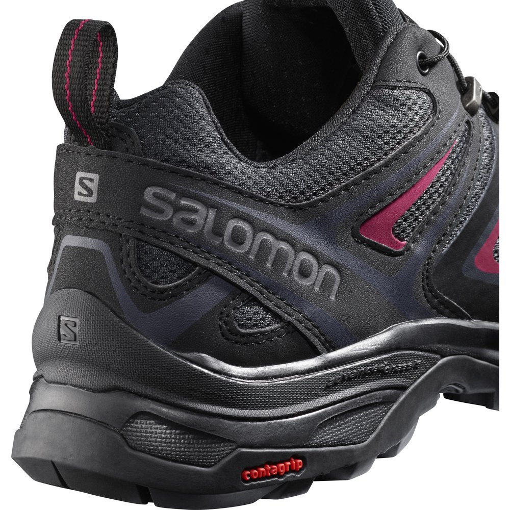 SALOMON Women's X Ultra 3 W Trail Running Shoe, Graphite/Black/Citronelle, 7.5 M US by SALOMON