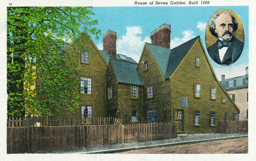セーラム – 家の外部ビューの7つの切り妻# 2 , Built in 1668 36 x 54 Giclee Print LANT-19234-36x54 B01MG3T0FN  36 x 54 Giclee Print