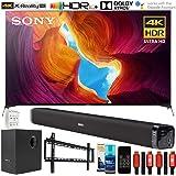 Sony XBR75X950H 75 inch X950H 4K Ultra Full Array HD LED TV (2020 Model) Bundle with Deco Gear Home Theater Soundbar with Sub